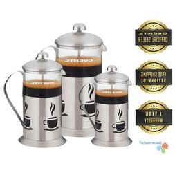 Ovente French Press Stainless Steel Coffee Maker, Great for