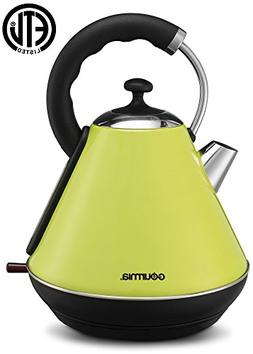 Gourmia GK270 Electric Vintage Kettle - Stylish Design - Qui