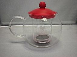 GIBSON Glass 23 oz. 680 ml. Teapot Tea Coffee Kettle With In