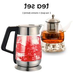 Ovente Glass Electric Kettle with Temperature Control Bundle