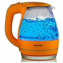 Ovente Glass Electric Tea Coffee Kettle Cordless Hot Water B