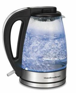Hamilton Beach Glass Electric Tea Kettle, Water Boiler & Hea