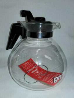 GLASS STOVETOP WHISTLING 12-CUP TEA KETTLE & LID METAL HEAT