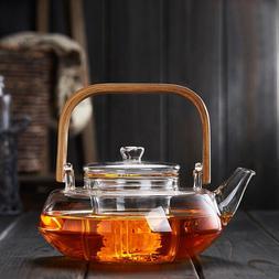 glass strainer safe lid dishwasher stovetop safe tea set ket