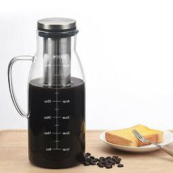 Glass Teapot French Coffee Tea Kettle Manual Coffee Espresso