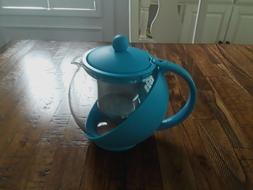 glass teapot personal tea kettle 6 cup