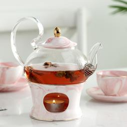 MUZITY Glass Teapot With <font><b>Ceramic</b></font> Teapot