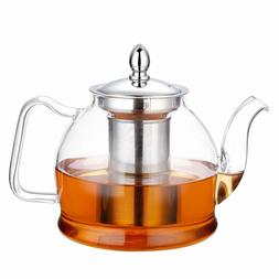 New Glass Teapot with Removable Infuser, Study Stovetop Safe