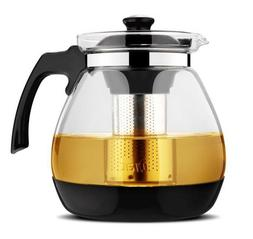 Glass Teapots With Removable Steel Infuser Filter For Tea Fl