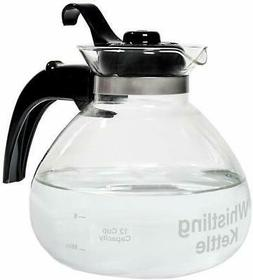 Glass Whistle Tea Kettle For Gas Stove Top Water Boiling Tea