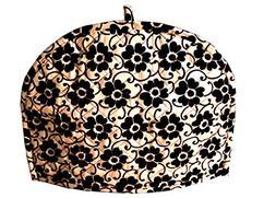 Marudhara Fashion Gold and Black Tea Cosy Cotton kitchen acc