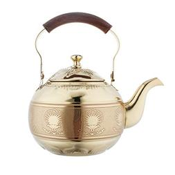 OMGard Gold Tea Pot with Infuser Loose Tea Leaf Filter 2 Lit