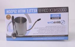 Gooseneck Coffee Tea Kettle with Mini Spoon 12 oz BlinkOne H