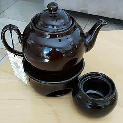 Hand Made Traditional Brown Betty Ceramic 4 Cup Teapot Set C