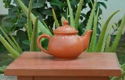 Hand Painted Terracotta Indian Tea Kettle For Serving Tea Coffee Milk Teapots