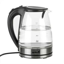1.8L Electric Kettle Glass Coffee Tea Hot Water Boiler Warm