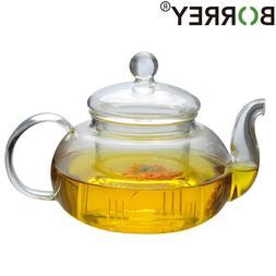 BORREY Heat-resistant <font><b>Glass</b></font> Teapot Doubl