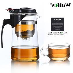 Heat Resistant Glass <font><b>Tea</b></font> Pot Flower <fon