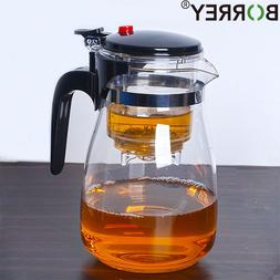 BORREY Heat Resistant Glass Teapot <font><b>With</b></font>