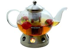 51oz Heat Tempered Glass Teapot with Tea Infuser and SS Teap