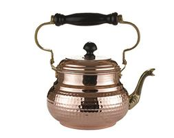 MisterCopper Heavy Gauge 1mm Thick Hammered Copper Tea Pot K