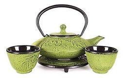 Happy Sales HSCT-MBY08, Cast Iron Tea Pot Tea Set Mochi Bamb