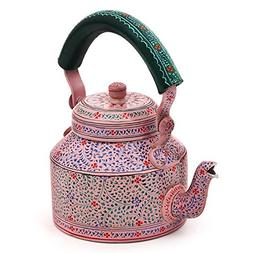 Indian Traditional Hand Painted Steel Tea Kettle Tea Pot Pin