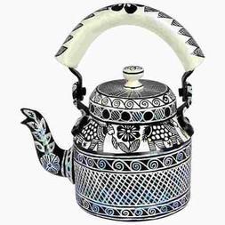 Indian Traditional Hand Painted Tea Kettle Tea Pot Steel  B