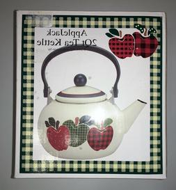 Reston Lloyd Ingleman Designs 2 Qt. Tea Kettle Applejack ~ R