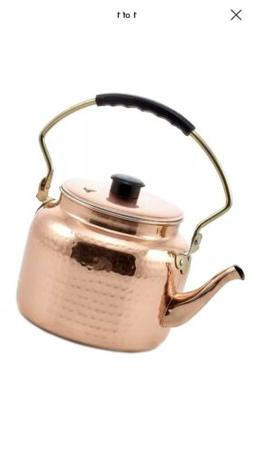 Old Dutch International 2 Quart Tea Kettle Hammered Copper *