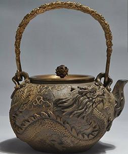 Japanese tetsubin Cast Iron Teapot Dragon and phoenix art Ke