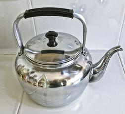 Kettle Tea coffee Pot Aluminum Vintage Handle Whistling Ware