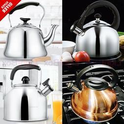 Kettle Tea Stainless Steel Whistling for Stovetop 2,3,4 Quar