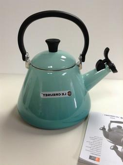 LE CREUSET KETTLE WHISTLING TEA KETTLE COOL MINT 1.7 QT. NEW