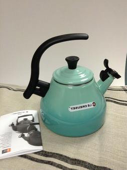 LE CREUSET KETTLE WHISTLING TEA KETTLE COOL MINT 1.6 QT. NEW