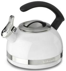 KitchenAid 2-Qt Stainless Steel Band Tea Kettle Whistle kten