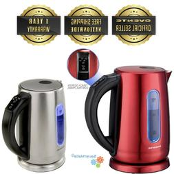 Ovente KS58 1.7L Stainless Steel Electric Kettle with Touch