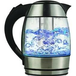 Brentwood KT-1960BK Borosilicate Glass Tea Kettles with Tea