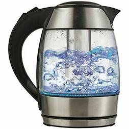 Brentwood KT-1960BK Cordless Electric Kettle with Tea