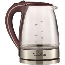 BRENTWOOD KT-1900PR  1.7-Liter Borosilicate Glass Tea Kettle