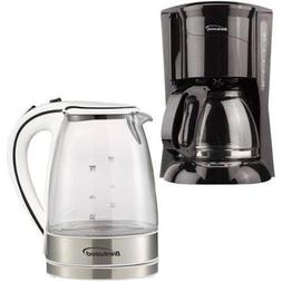 Brentwood KT-1900W 1.7L Glass Electric Kettle and Brentwood