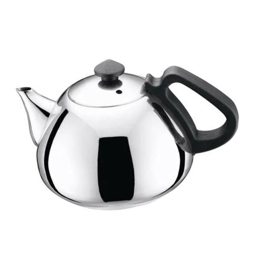 0.8L Steel Metal Tea Kettle Induction Stovetop Silver
