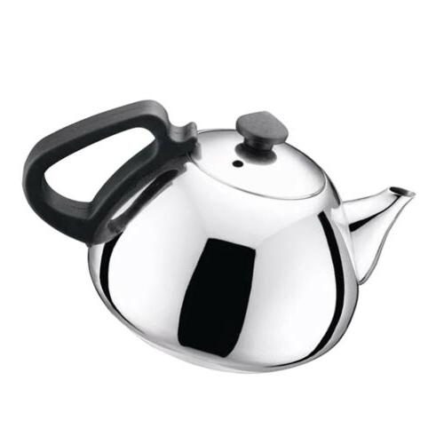 0.8L Stainless Steel Teapot Metal Tea Kettle for Induction S