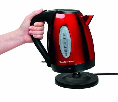 Hamilton Beach 040094408856 40885 Electric Kettle Tea & Coffee
