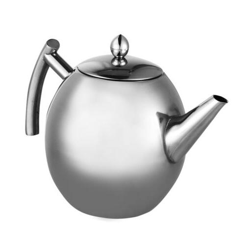 1/1.5L Stainless Kettle Teapot for Stove Top Fast Coffee US