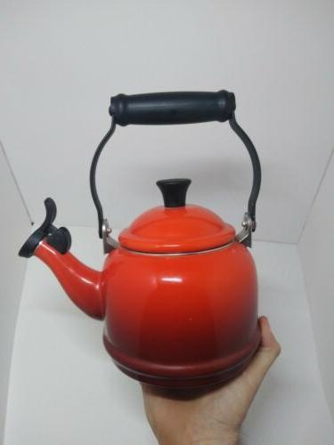 Le Quart Tea Pot Kettle Red