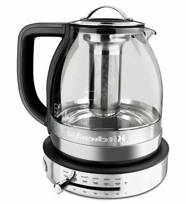 KitchenAid® 1.5 L Glass Tea Kettle, KEK1322SS