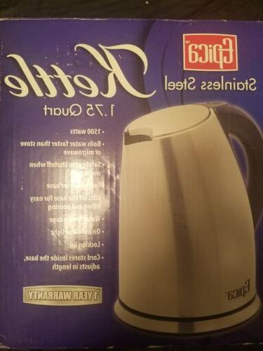 1 75 quart cordless electric stainless steel