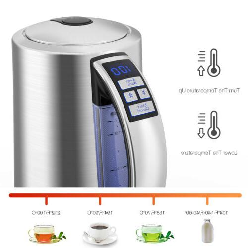 1.7L ELECTRIC TEA KETTLE Fast Heating Pot Cordless Heater