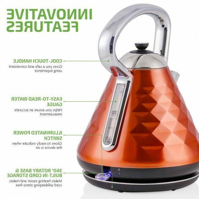 Ovente 1.7L Water Electric Boil-Dry Copper